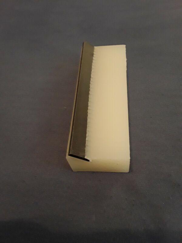 Cigar box Guitar. Fret end beveling file
