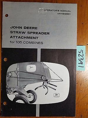 John Deere Straw Spreader Attachment For 105 Combine Owner Operator Manual 1061