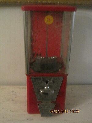 Vintage Peanut Machine Oak Acorn Coin Op 25 cent