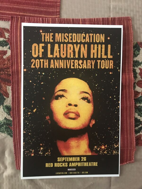 ORIGINAL LAURYN HILL THE MISEDUCATION 20TH ANNIVERSARY TOUR CONCERT POSTER