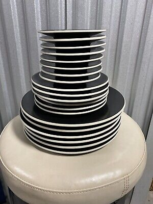 Sasaki COLORSTONE BLACK SET (MATTE, NO TEXTURE) Dinner/Salad Plate & Cup Saucers Salad Plate Cup