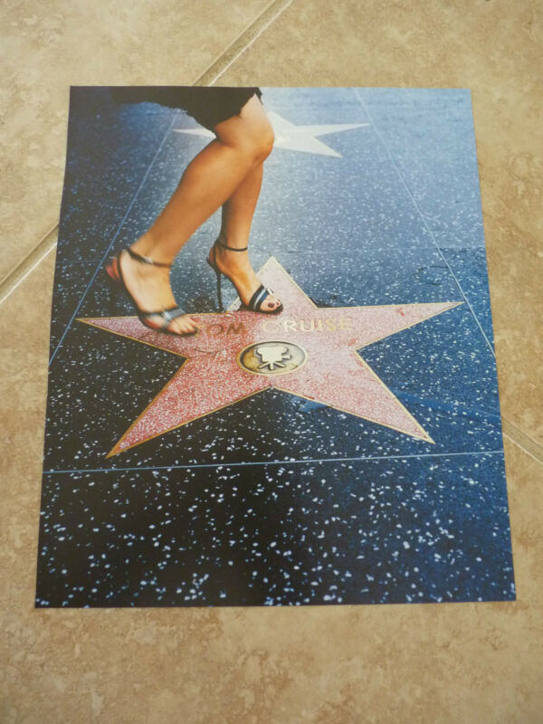 Tom Cruise Walk of Fame Actor Hollywood Sexy 10x12 Coffee Table Book Photo Page