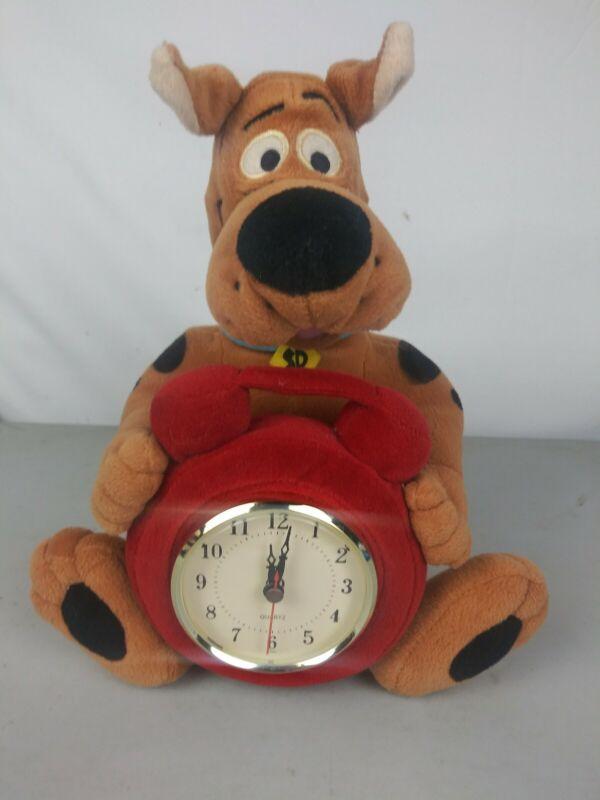 "1999 Warner Brothers Studio Scooby-doo Plush with  Quartz Clock 12"" tall"
