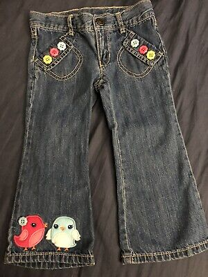 Gymboree Toddler Girl 2T Jeans Birds