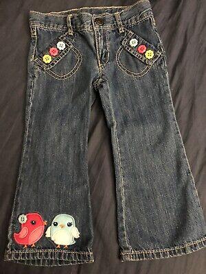 Gymboree Toddler Girl 2T Jeans Birds