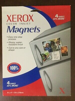 Xerox Color Inkjet Magnets 8-12 X11 1 Sheet -3 Sheets Less