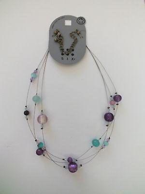 SIX Halskette Perlenkette Kette Blau NEU! OVP! online kaufen