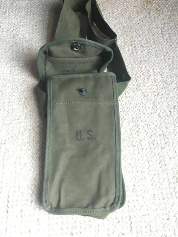 US Vietnam Ammunition Case 45 grease gun Magazine Pouch With Shoulder Strap-New