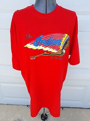 Vtg 1993 Indian Motorcycle IMMI The Indian Chief Is Back Red T-Shirt Size XL