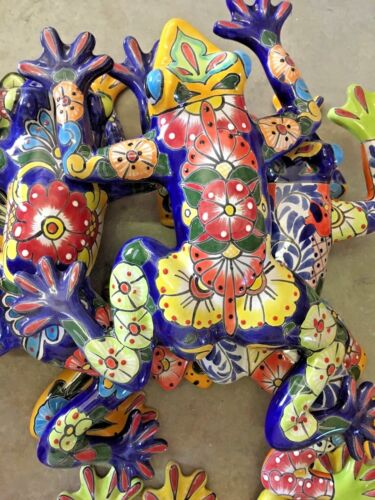 TALAVERA MEXICAN POTTERY - ANIMALS - LARGE FROG H   ***FREE FREIGHT***