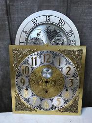 Vintage Ridgeway Moon Dial Grandfather Clock Face Clock Parts / Repair ML90