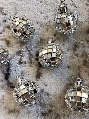 LOT of 17 Mirror Ball Ornaments 1-1/8