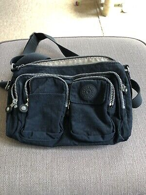 Kipling Ladies Medium Handbag Shoulder Bag Black With Monkey Adjustable Strap