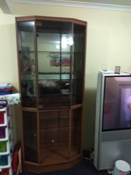 Glass display wall unit | Cabinets | Gumtree Australia Brisbane ...