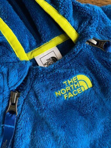 NORTH FACE 6-12 Month Blue Hooded Fleece Snowsuit