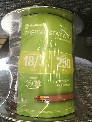 Southwire Thermostat 187 Wire 250 Ft. 18-gauge Brown Solid Cu Cl2 Jacketed
