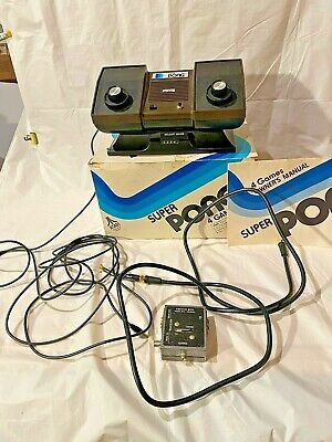 Atari Super Pong Game with Original Box and Instructions Model C-140 Works
