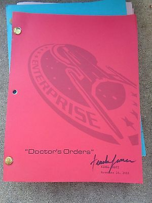 Star Trek Enterprise Stage Used Crew Script Doctor's Orders