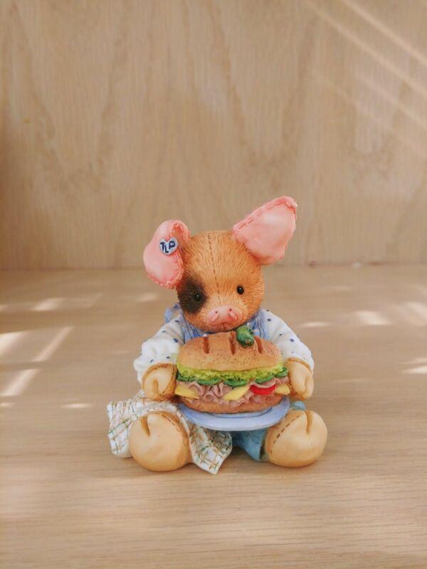 "This Little Piggy Figurine ""This Little Piggy Ate Roast Beef"" Enesco 1994"