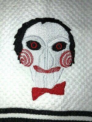 Embroidered Kitchen Bar Hand Towel  SAW Clown Character- Halloween Theme BS1529](Saw Halloween Theme)
