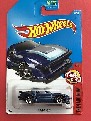 Mazda RX-7 #337 * BLUE * 2017 Hot Wheels Case Q