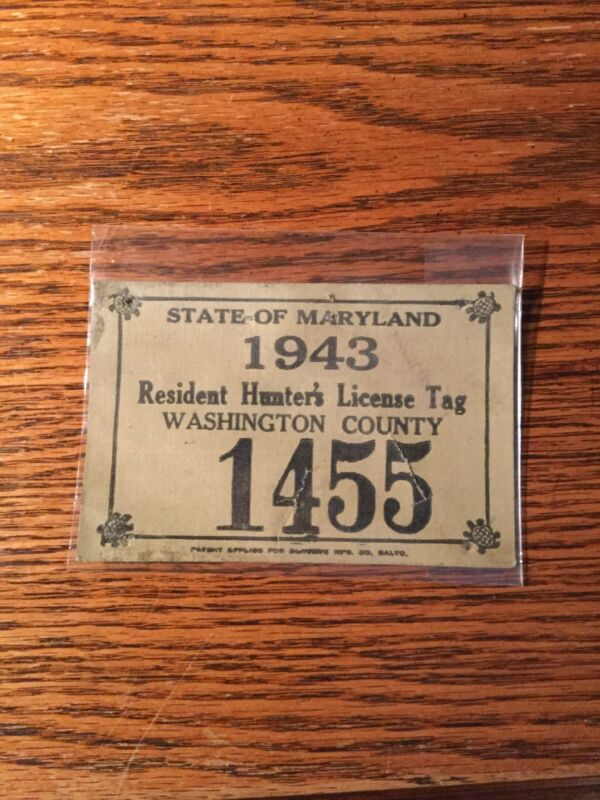 1943 Maryland Washington County Cloth...Others Available also!