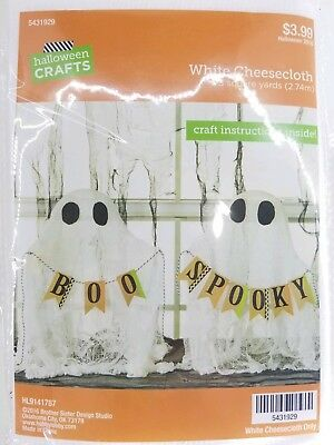 New Fun Halloween Craft Instruction White Cheesecloth Cute Ghost Boo Spooky Home