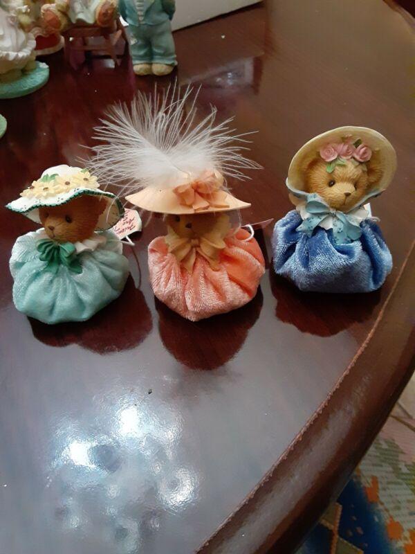 Cherished teddies: 3 piece Bonnet Collection