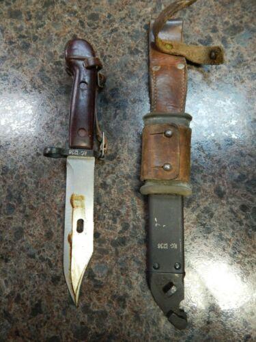 Vietnam War Era AK Bayonet Fighting Knife Original Scabbard Matching Serials