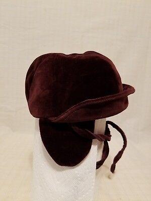 Vintage Velvet Unisex Child's Cold Weather Dressy Hat - plum purple