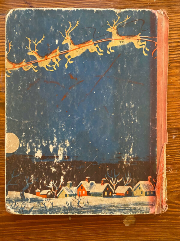 1946 Christmas Pony Book William Hall Vintage Knopf Rare First Ed Roger Duvoisin