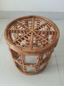 handcrafted-- bamboo-- table--- 13in wide/ 14in high Glendenning Blacktown Area Preview