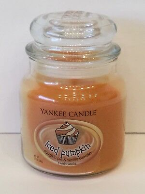 NEW Yankee Candle ICED PUMPKIN 13.5 oz Jar Swirl Candle - RARE and HTF!!