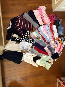 Huge 6-12 month girls clothing lot.