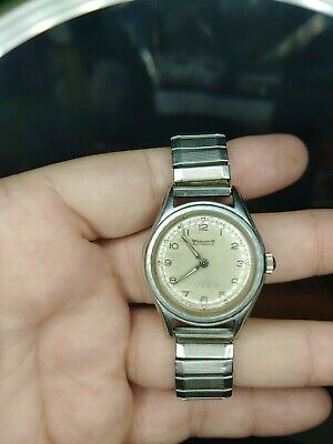 Vintage Wadsworth Automatic Water & Shock Resistant Men's Watch Military 1361