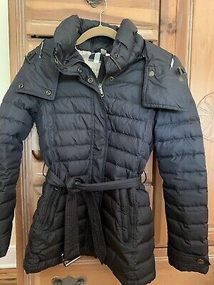 BURBERRY DOWN BELTED PUFFER COAT XS