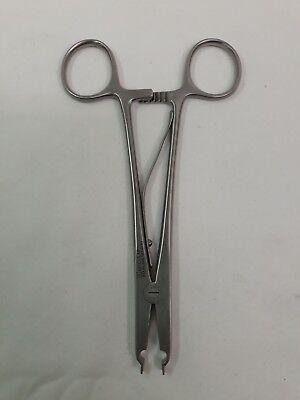 Aesculap Stainless Hemostatic Rainey Clip Applying Forceps 6.25 Long