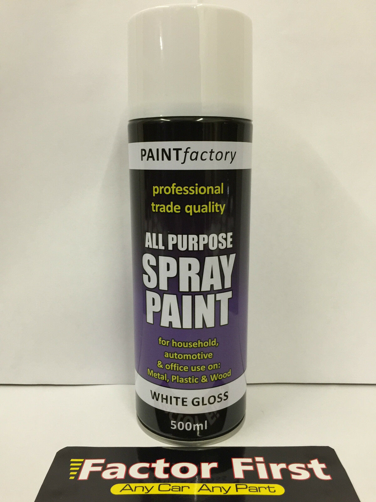2 X All Purpose White Gloss Spray Cans Tins Spray Paint Interior Exterior 500ml Ebay