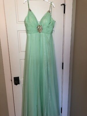 Used, Mac Duggal Prom Dress Evening gown Size 4  Green for sale  Senoia