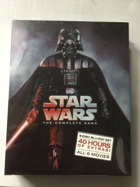 STAR WARS THE COMPLETE SAGA 1,2,3,4,5,6 (9 BLU-RAY Discs Box Set) Sealed Box NEW