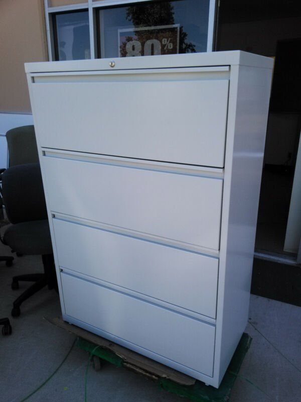"""Staples 36"""" 4 drawer lateral file"""