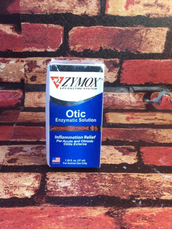 ZYMOX Otic Enzymatic Solution  Hydrocortisone 1.0%    1.25 oz   Exp: 3/ 2022