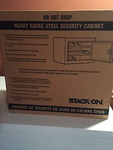 Stack on security cabinet
