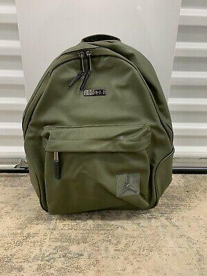 Nike Air Jordan Regal Air Faux Leather Backpack Olive Green 9A0136-X34 NWT