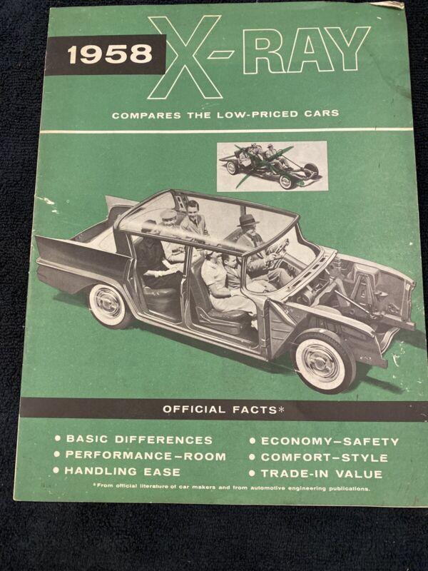 1958 AMC Rambler Vs Cadillac Plymouth XRay Brochure Magazine