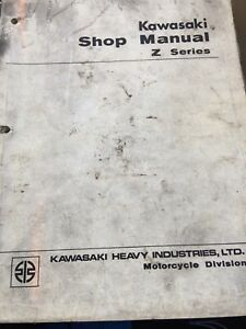 RARE 1972 Kawasaki Z1 Z Series Shop Manual