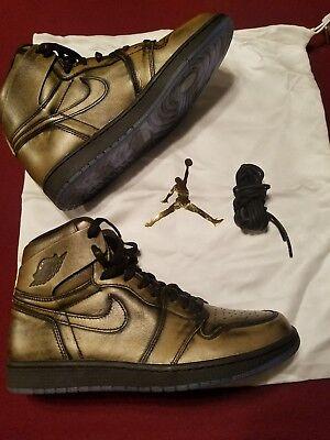 Mens Air Jordan 1 Ret High OG Wings AA2887-035 Black/Black
