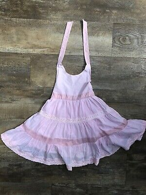 Isaac Mizrahi New York Embroidered Pink Crossback Dress Age 6 years IMMACULATE