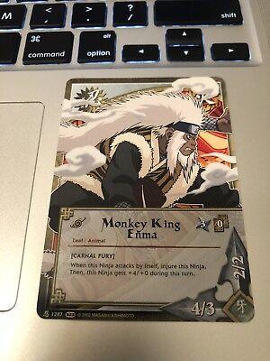 Naruto Cards CCG TCG Monkey King Enma 1287 COMMON COMBINE (Common Naruto Tcg Card)