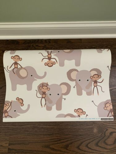 2 Wallpaper Rolls Elephant And Monkey 24in x 27ft